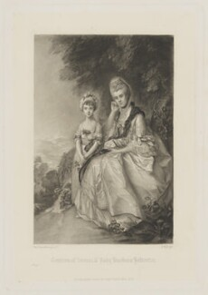 Hester (née Hall), Countess of Sussex; Lady Barbara Yelverton (when a child), by George H. Every, published by  Henry Graves & Co, after  Thomas Gainsborough - NPG D40921