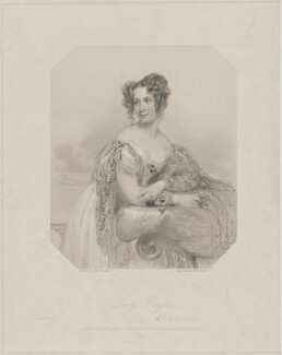 Emily Henrietta Boyle (née Seymour), Countess of Shannon when Lady Boyle, by William Holl Jr, and by  Francis Holl, printed by  McQueen (Macqueen), published by  T.G. March, after  John Hayter - NPG D40670
