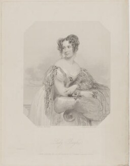Emily Henrietta Boyle (née Seymour), Countess of Shannon when Lady Boyle, by William Holl Jr, and by  Francis Holl, printed by  McQueen (Macqueen), published by  T.G. March, after  John Hayter - NPG D40671