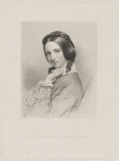 Anne Sutherland-Leveson-Gower, Duchess of Sutherland, by William Holl Jr, published by  Lloyd Brothers & Co, after  Eden Upton Eddis - NPG D40932