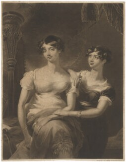 Louisa Sharp and her sister, by William Say - NPG D40678