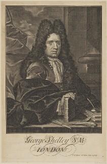 George Shelley, by George Bickham the Elder - NPG D40692