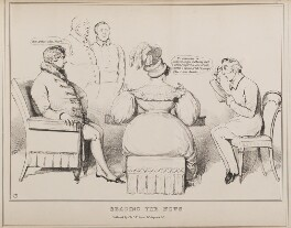 Reading the News, by John ('HB') Doyle, published by  Thomas McLean - NPG D40940