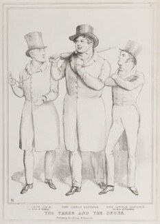 The Three and the Deuse (John Lawless; Daniel O'Connell; Richard Lalor Sheil), by John ('HB') Doyle, published by  Thomas McLean, published 9 July 1829 - NPG D40943 - © National Portrait Gallery, London