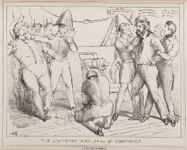 The Abstruce Joke.  A Scene off Terceira, by John ('HB') Doyle, published by  Thomas McLean, published September 1829 - NPG D40945 - © National Portrait Gallery, London
