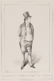Sir Charles Wetherell ('The Man Who Prefers his Character to his Place'), by John ('HB') Doyle, published by  Thomas McLean - NPG D40950
