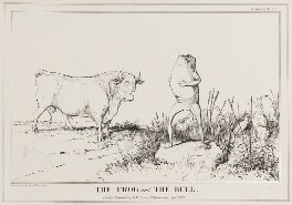 The Frog and the Bull (Arthur Wellesley, 1st Duke of Wellington; Jules Auguste Armand Marie, Prince de Polignac), by John ('HB') Doyle, published by  Thomas McLean - NPG D40960