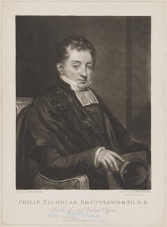 Philip Nicholas Shuttleworth, by Samuel William Reynolds, published by  W. Thompson, after  Thomas Kirkby - NPG D40721