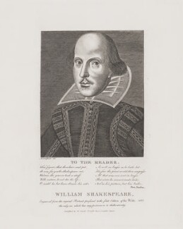 William Shakespeare, published by William Smith, after  Martin Droeshout - NPG D40737