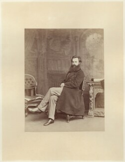 Thomas Woolner, by Ernest Edwards, published by  Lovell Reeve & Co - NPG x5144