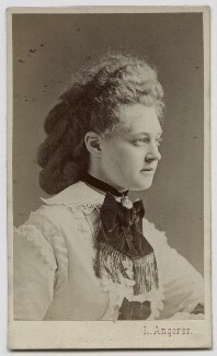 Princess Frederica of Hanover, by Ludwig Angerer, 1870s - NPG Ax46185 - © National Portrait Gallery, London