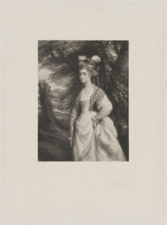 Elizabeth Godden (née Houghton), Lady Taylor, by Frederick Bromley, after  Sir Joshua Reynolds - NPG D40848