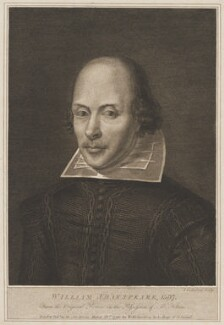 William Shakespeare, by John Godefroy, published by  William Richardson - NPG D41638