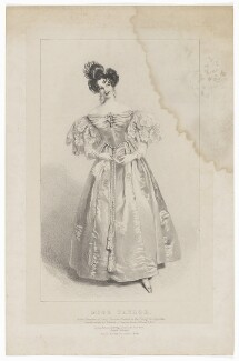Harriett Deborah Lacy (née Taylor) as Lady Honoria Howard in 'The School for Coquettes', by Richard James Lane, published by  Joseph Dickinson, published by  Charles Etienne Pierre Motte, after  Alfred Edward Chalon - NPG D41840