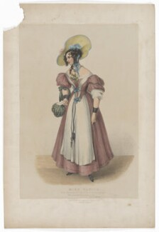 Harriett Deborah Lacy (née Taylor) as Felicia in 'The Housekeeper', by James William Giles, printed by  Charles Joseph Hullmandel, published by  Joseph Dickinson, after  Mrs H. Browne - NPG D41843