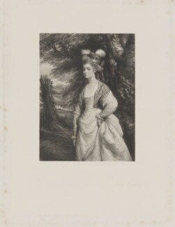 Elizabeth Godden (née Houghton), Lady Taylor, by Frederick Bromley, after  Sir Joshua Reynolds - NPG D41837