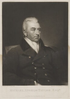 Michael Angelo Taylor, by Samuel William Reynolds, published by and after  James Lonsdale - NPG D40854