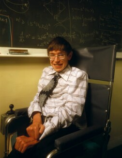 Stephen Hawking, by Denis Waugh, September 1978 - NPG x134846 - © Denis Waugh / National Portrait Gallery, London
