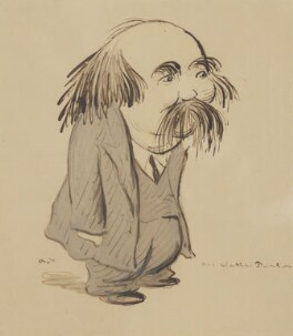 Theodore Watts-Dunton, by Sir Henry Maximilian ('Max') Beerbohm,  - NPG 6911 - © estate of Max Beerbohm