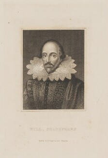 Unknown gentleman, possibly Sir Thomas Overbury, previously known as William Shakespeare, published by Richard Griffin & Co, after  Unknown Anglo-Netherlandish artist - NPG D41653