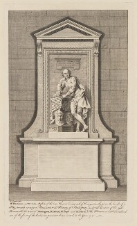 Memorial to William Shakespeare for poets' corner in Westminster Abbey, after Hubert-François Gravelot (né Bourguignon), after  Peter Scheemakers - NPG D41656