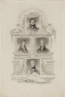 King George IV; Arthur Wellesley, 1st Duke of Wellington and two unknown sitters, after Sir Thomas Lawrence - NPG D38602