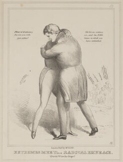 Extremes Meet in a Radical Embrace (George Spencer-Churchill, 6th Duke of Marlborough; Daniel O'Connell), by John ('HB') Doyle, published by  Thomas McLean - NPG D40988