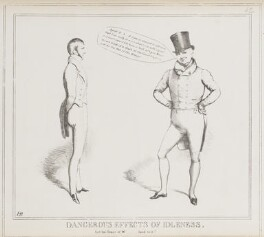 Dangerous Effects of Idleness (Charles Gordon-Lennox, 5th Duke of Richmond and Lennox; John Scott, 1st Earl of Eldon), by John ('HB') Doyle, published by  Thomas McLean - NPG D40997