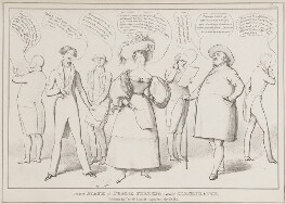 Present State of Public Feeling partially Illustrated (includes John Bull and six other figures), by John ('HB') Doyle, published by  Thomas McLean - NPG D40999