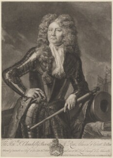 Sir Cloudesley Shovell, by John Faber Jr, sold by  Thomas Bowles Jr, sold by  John Bowles, after  Michael Dahl - NPG D41667