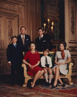 Queen Elizabeth II and her family, by Desmond Groves - NPG P1547