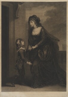 'Mrs Siddons and her Son in the Tragedy of Isabella' (Sarah Siddons (née Kemble); Henry Siddons), by and published by James Caldwall, published by and after  William Hamilton - NPG D41670
