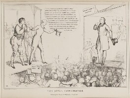 The Rival Candidates (Michel Boai; Sir Alexander Cray Grant, 8th Bt; Arthur Wellesley, 1st Duke of Wellington), by John ('HB') Doyle, printed by  Charles Etienne Pierre Motte, published by  Thomas McLean - NPG D41012