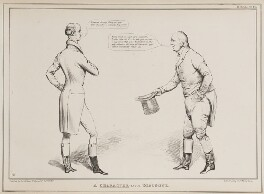 A Character-istic Dialogue (Sir Francis Burdett, 5th Bt; William Cobbett), by John ('HB') Doyle, printed by  Alfred Ducôte, published by  Thomas McLean - NPG D41016