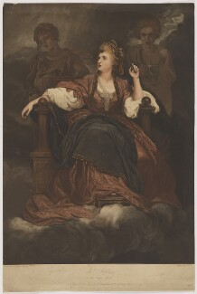Sarah Siddons (née Kemble) as the Tragic Muse, by Joseph Webb, published by  Hannah Humphrey, after  Sir Joshua Reynolds - NPG D41674