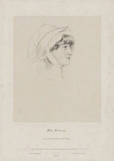 Sarah Martha ('Sally') Siddons, by Richard James Lane, printed by  Charles Joseph Hullmandel, published by  Joseph Dickinson, after  Sir Thomas Lawrence, published May 1830 (1800) - NPG D41677 - © National Portrait Gallery, London