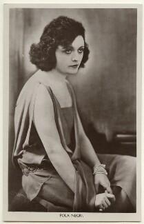 Pola Negri, by Ernst Sandau - NPG Ax160188