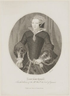 Lady Mary Sidney (née Dudley), by and published by Edward Harding - NPG D41693