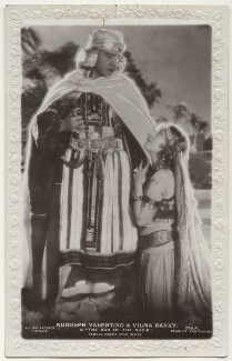 Rudolph Valentino and Vilma Bánky in 'The Son of the Sheik', published by J. Beagles & Co - NPG Ax160199