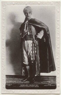 Rudolph Valentino, published by J. Beagles & Co - NPG Ax160200