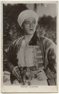 Rudolph Valentino, by Unknown photographer - NPG Ax160202