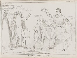 Political Frankensteins.  Alarmed at the progress of a Giant of their own Creation., by John ('HB') Doyle, published by  Thomas McLean, published 18 January 1831 - NPG D41040 - © National Portrait Gallery, London