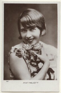 Mistinguett (née Jeanne-marie Bourgeois), by Unknown photographer - NPG Ax160208