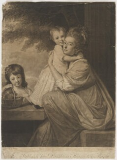 Dorothy Stables (née Papley); Harriet Stables; Maria Stables, by John Raphael Smith, after  George Romney - NPG D40864