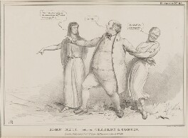 John Bull between Tragedy & Comedy (John Henry North; John Bull; Sir Charles Wetherell), by John ('HB') Doyle, printed by  Charles Etienne Pierre Motte, published by  Thomas McLean - NPG D41050