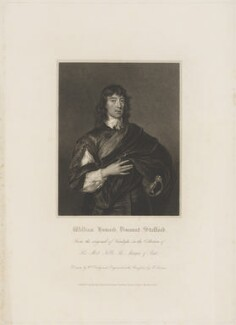 William Howard, 1st Viscount Stafford, by Edward Scriven, published by  Harding, Triphook & Lepard, after  Sir Anthony van Dyck - NPG D40872