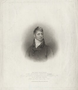 Granville Leveson-Gower, 1st Earl Granville, by John Samuel Agar, published by  T. Cadell & W. Davies, after  John Wright, after  Thomas Phillips - NPG D40873