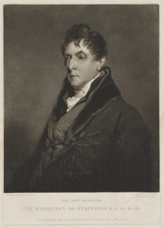 George Granville Leveson-Gower, 1st Duke of Sutherland, by Charles Turner, published by  William Sams, after  William Owen - NPG D41844