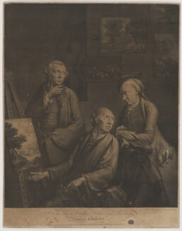'The Three Smiths; Brothers, and Painters', by and published by William Pether, sold by  William Pether - NPG D41737