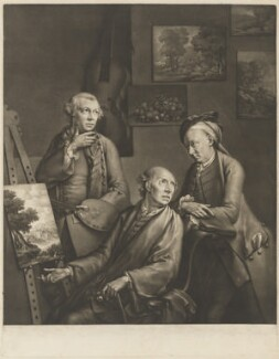 'The Three Smiths; Brothers, and Painters', by and published by William Pether - NPG D41738